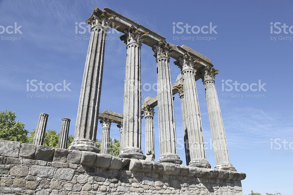Temple of Evora - Portugal royalty-free stock photo
