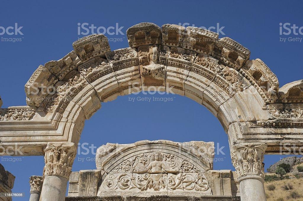 Templo de Adriano, Éfeso, Turquia foto royalty-free