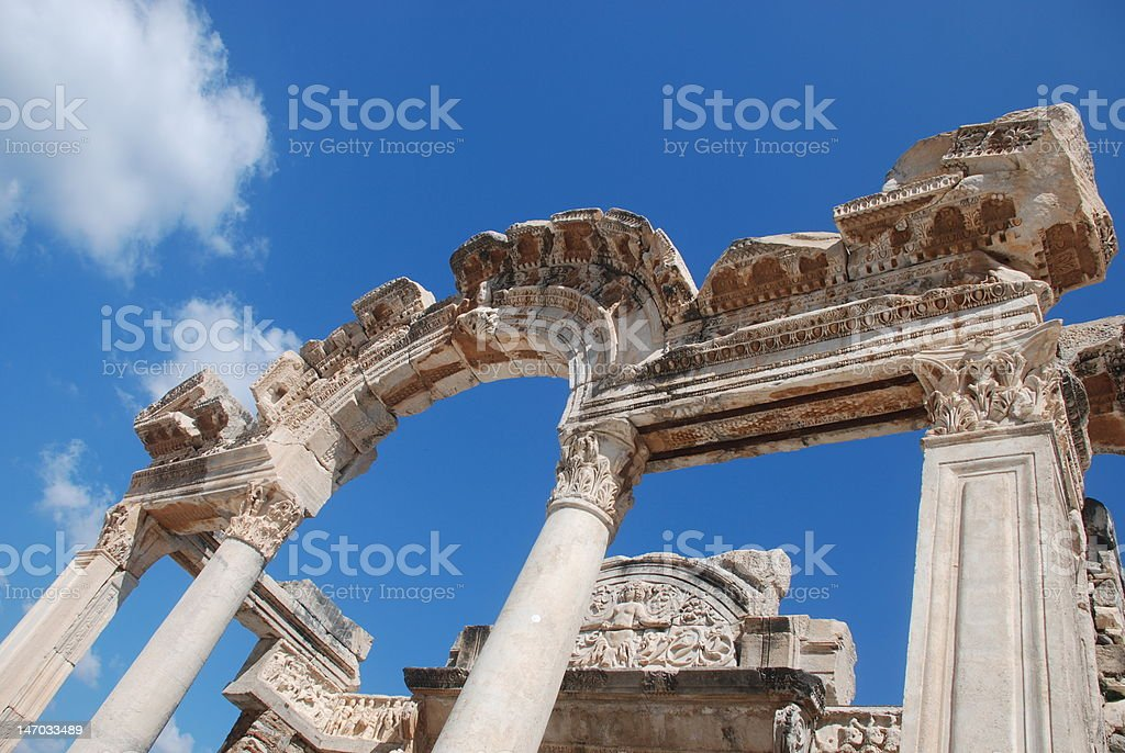 temple of hadrian Lizenzfreies stock-foto