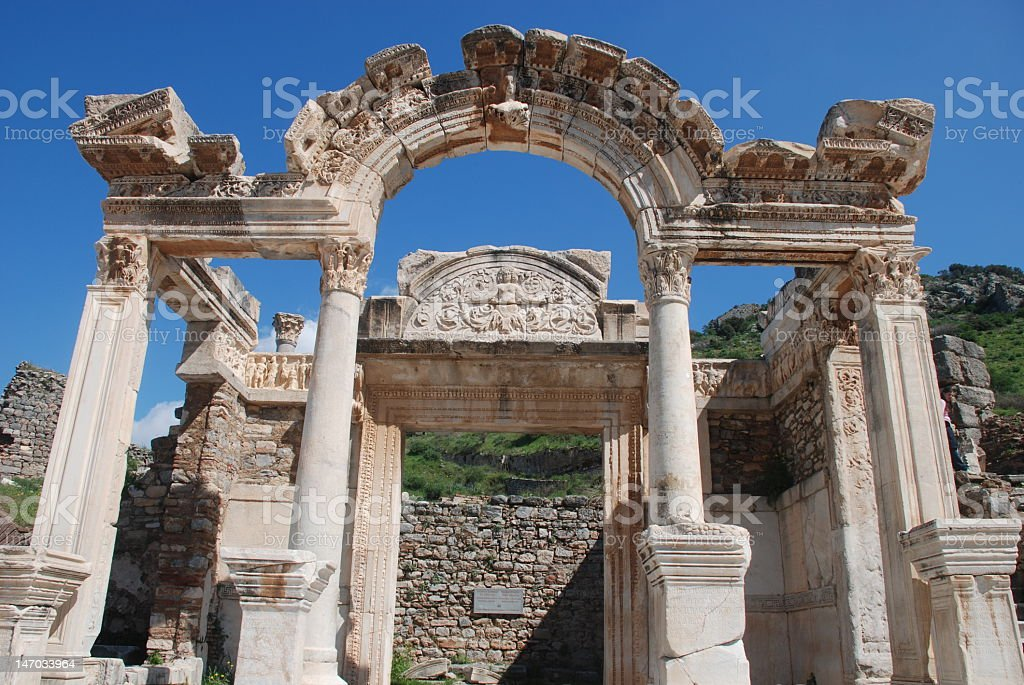 Temple of hadrian Lizenzfreies stock-foto