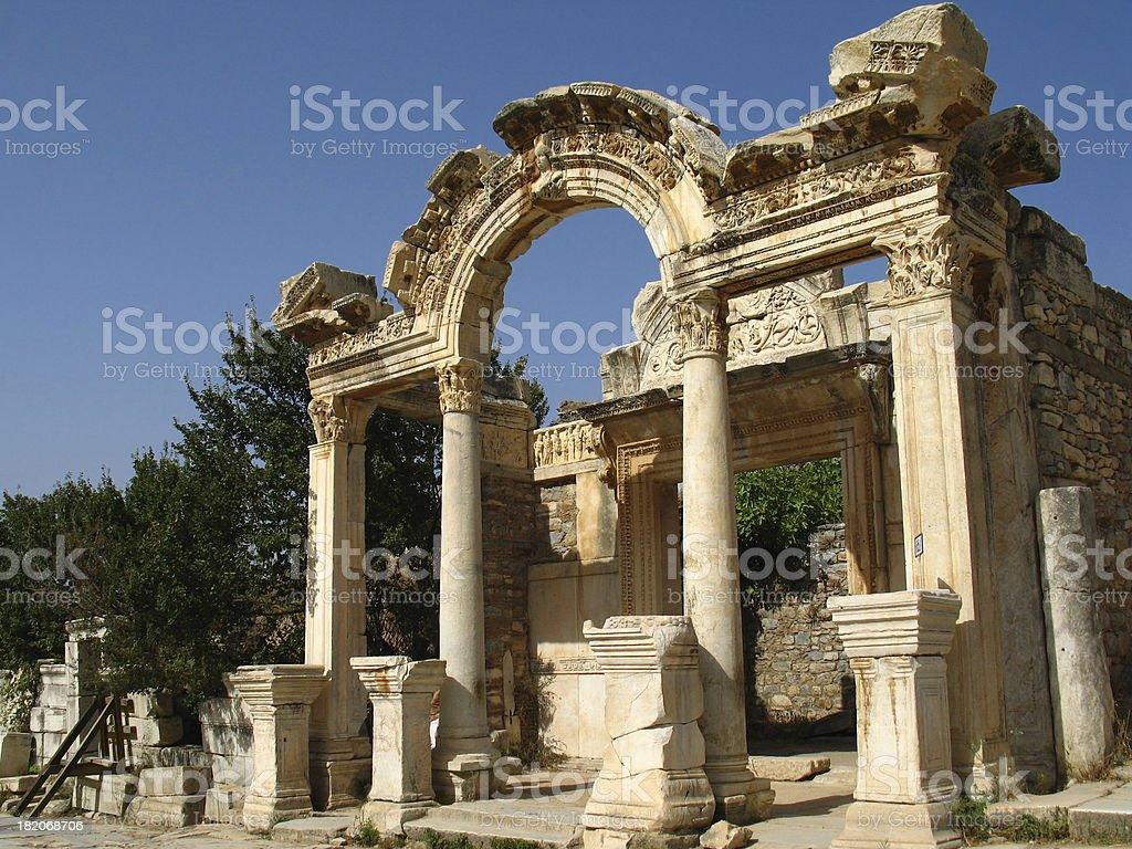 Temple of Hadrian stock photo