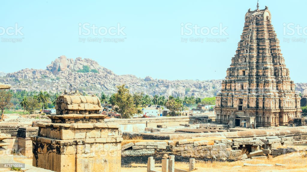 Temple of Hampi stock photo