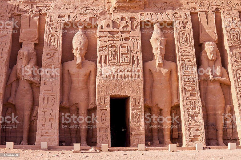 temple of hathor at abu simbel, egypt royalty-free stock photo