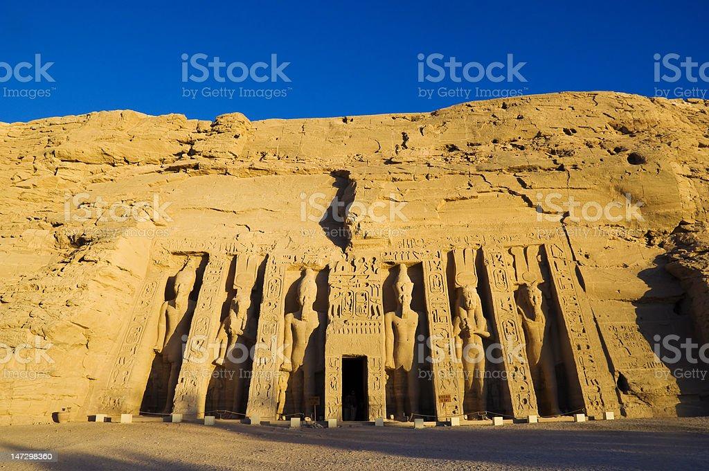 Temple of Hathor stock photo