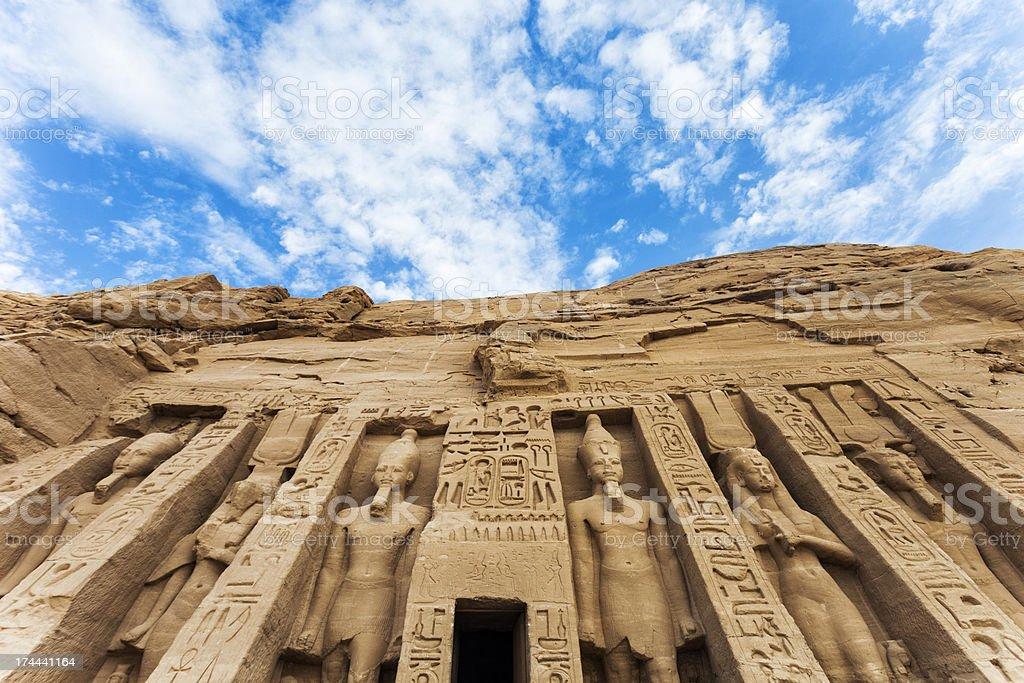 Temple of Hathor royalty-free stock photo