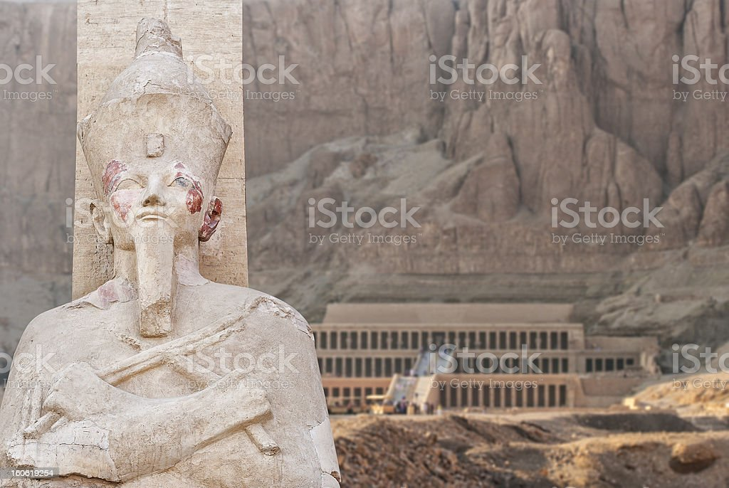 Temple of Hatsepsut in Egypt royalty-free stock photo