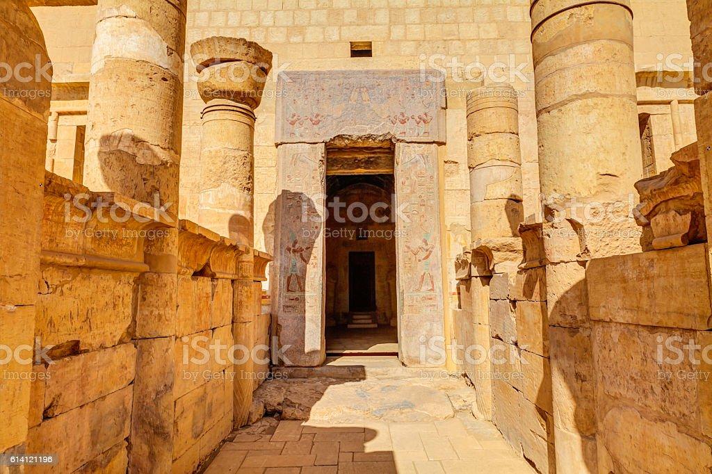Temple of Hatshepsut Egypt stock photo
