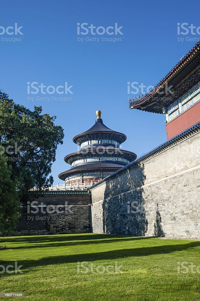 Temple of Heaven and the blue sky royalty-free stock photo