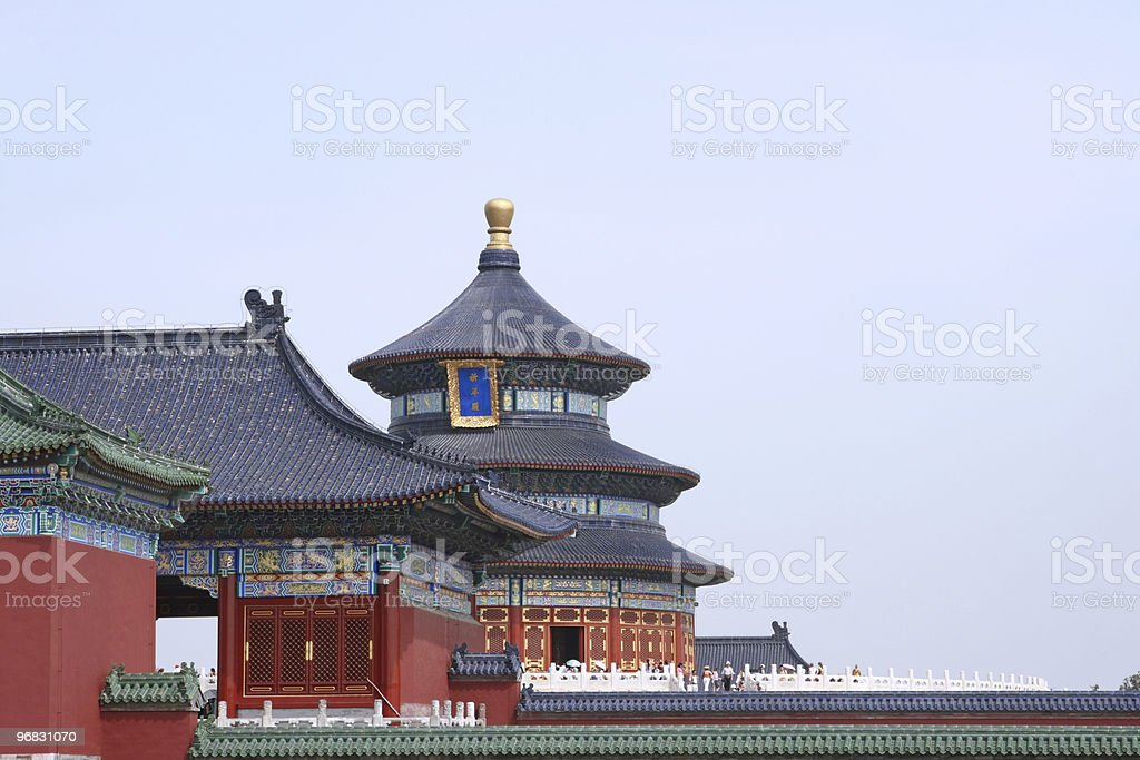 Temple of Heaven at Entrance Gate stock photo