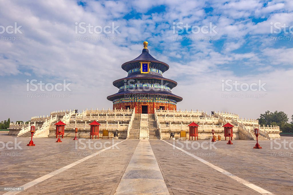 Temple of Heaven in Beijing stock photo