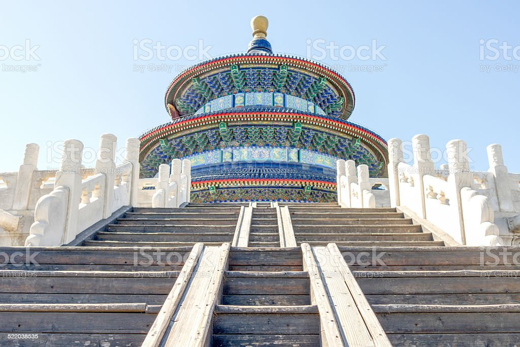 Temple of Heaven with Stairs stock photo