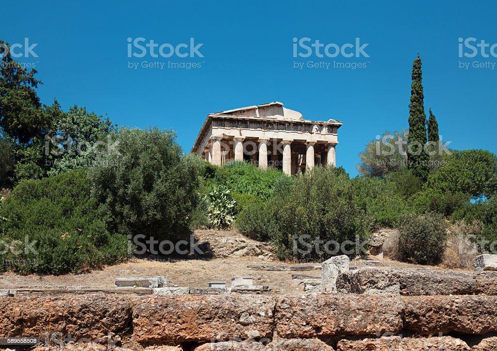 Temple of Hephaestus, Agora, Athens stock photo
