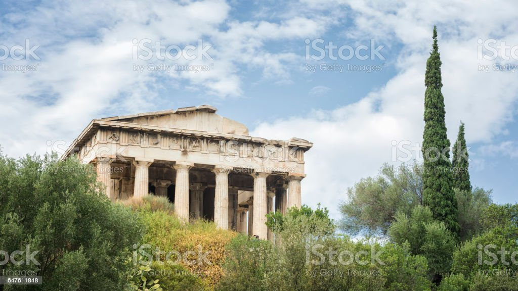 Temple of Hephaestus, Athens, Greece stock photo