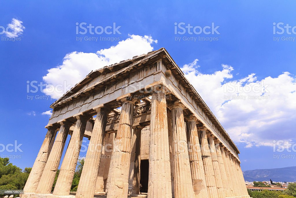 Temple of Hephaestus in Athens, Greece royalty-free stock photo