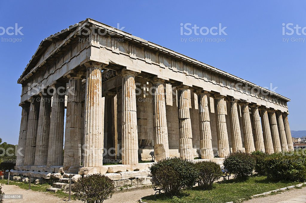 Temple of Hephaestus royalty-free stock photo