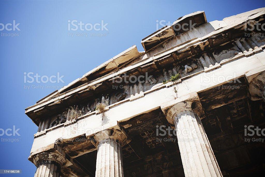 Temple of Hephaisteion royalty-free stock photo