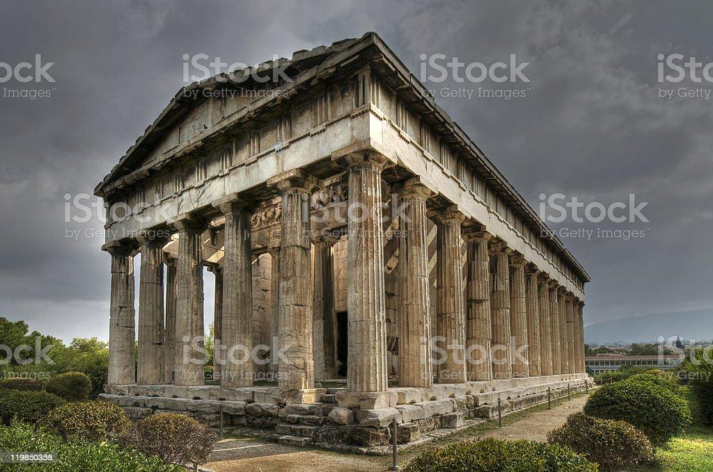 Temple of Hephaistos, Athens stock photo