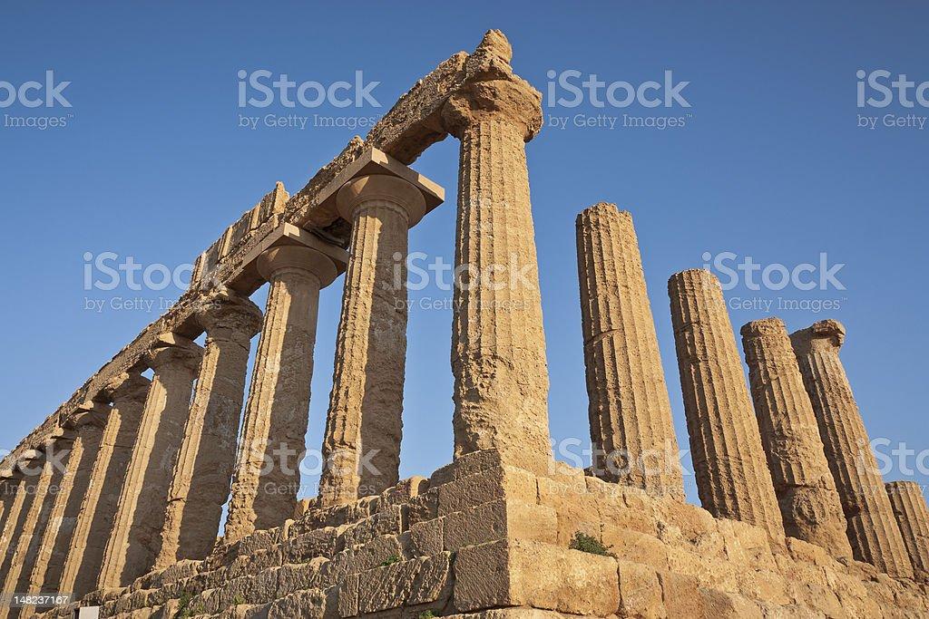 Temple of Hera, Agrigento, Sicily. royalty-free stock photo