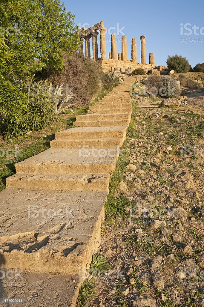 Temple of Hera, Agrigento, Sicily royalty-free stock photo