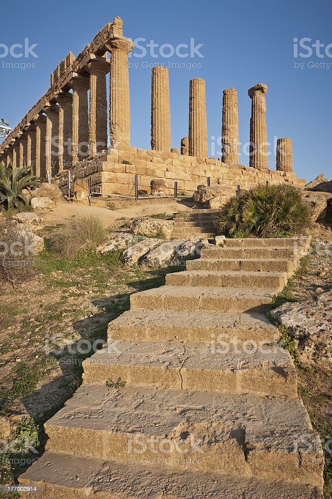 Temple of Hera, Agrigento, Sicily royalty-free stock photo