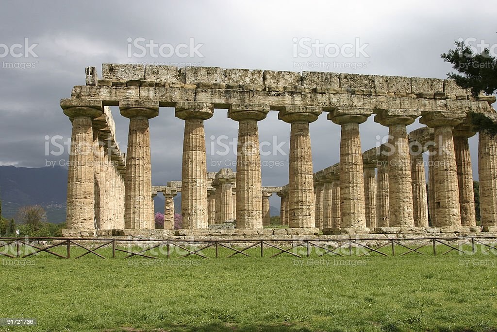 Temple of Hera in Paestum. royalty-free stock photo