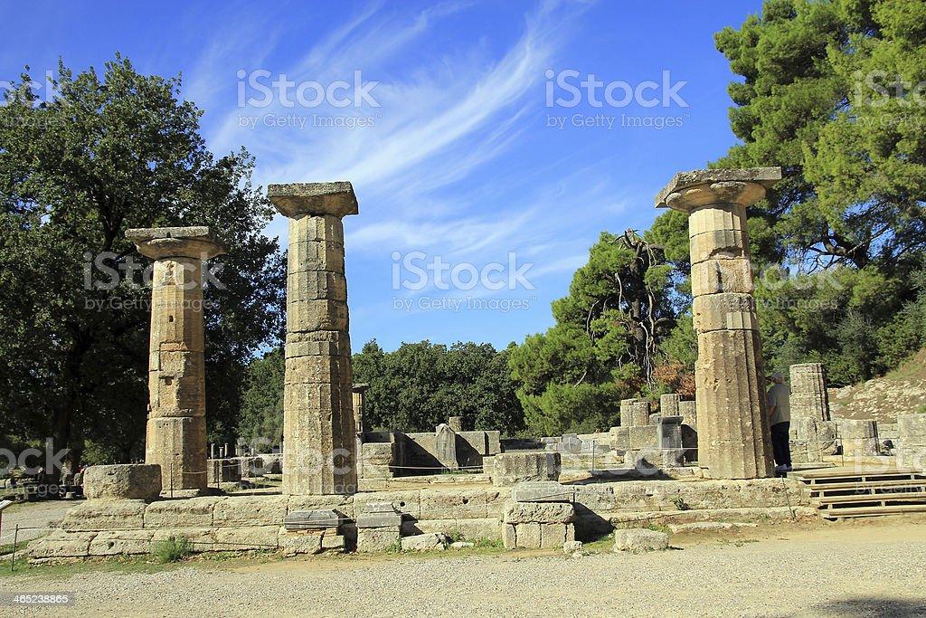 Temple of Hera stock photo