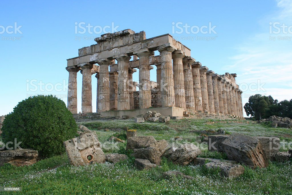 temple of hera royalty-free stock photo