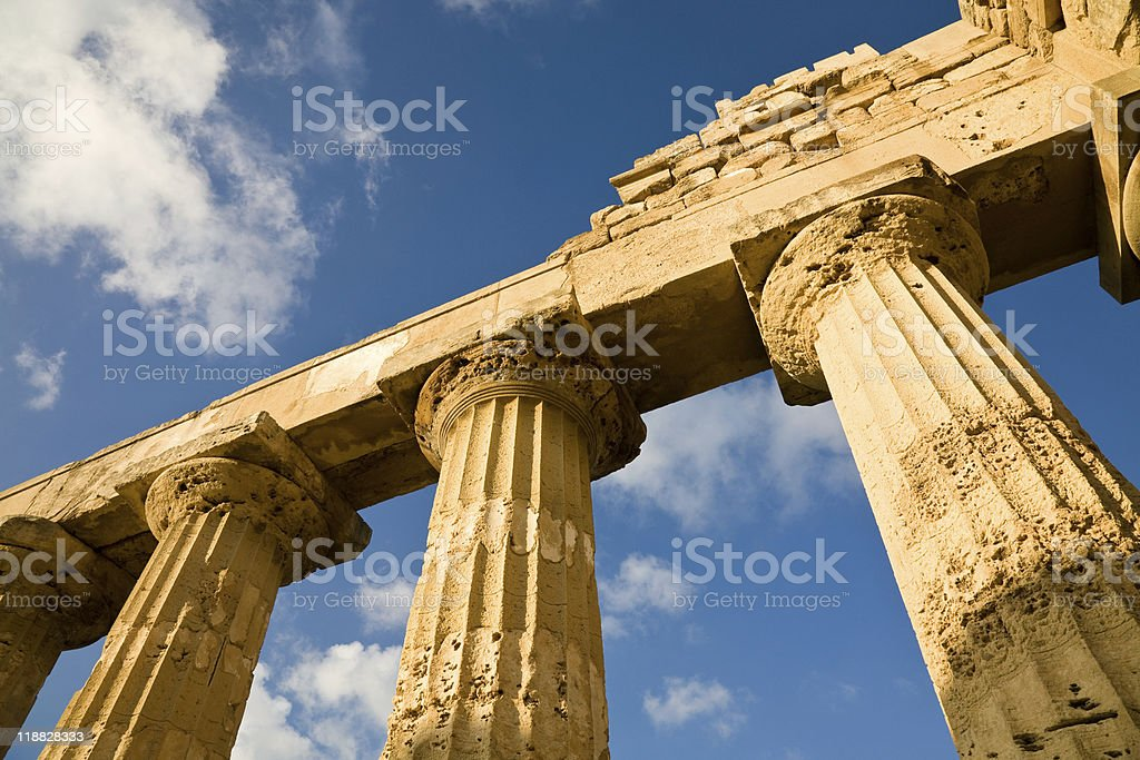 Temple of Hera, Selinunte, Sicily royalty-free stock photo