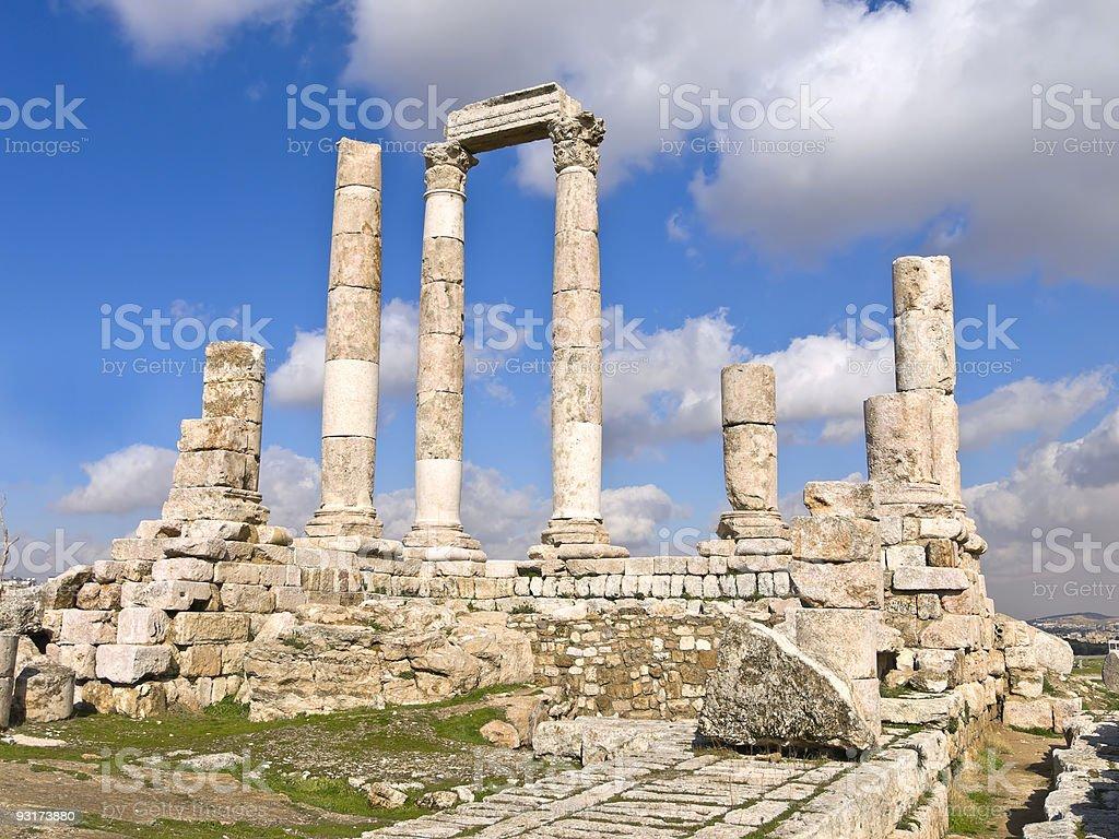 Temple of hercules, Amman stock photo