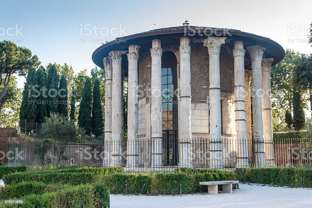 Temple of Hercules Victor in Rome stock photo