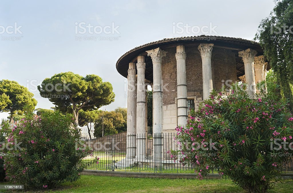 Temple of Hercules Victor stock photo