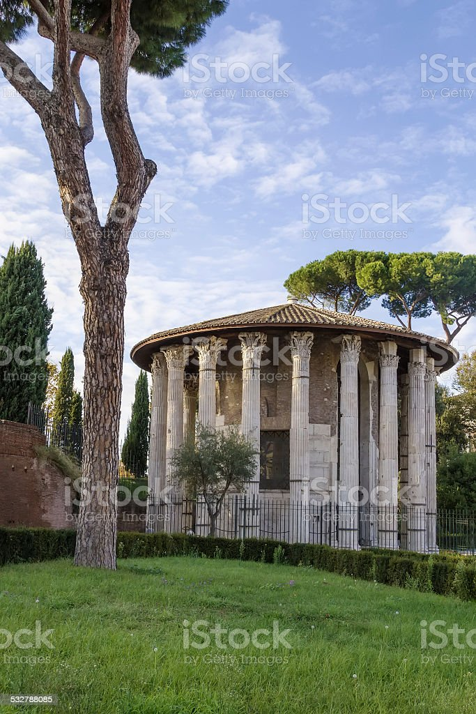 Temple of Hercules Victor, Rome stock photo