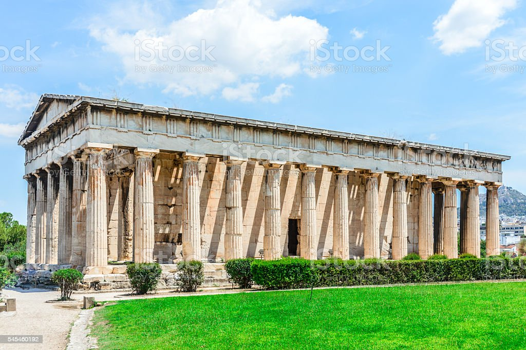 Temple of Herphaesus in the Ancient Agora - Athens, Greece stock photo