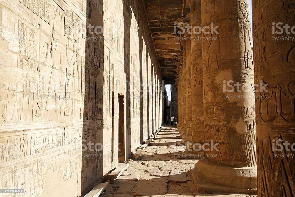 Temple of Horus courtyard royalty-free stock photo