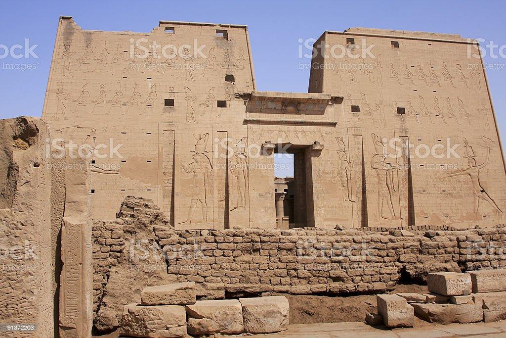 Temple of Horus in Edfu, Egypt stock photo