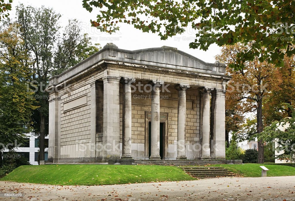 Temple of Human Passions in Jubelpark. Brussels. Belgium stock photo