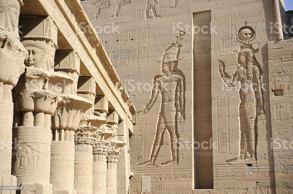 Temple of Isis - Detail royalty-free stock photo