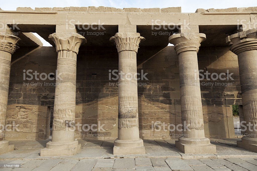 Temple of Isis royalty-free stock photo