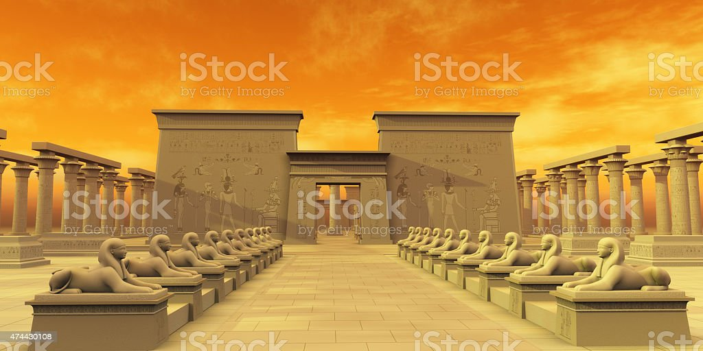 Temple of Isis stock photo