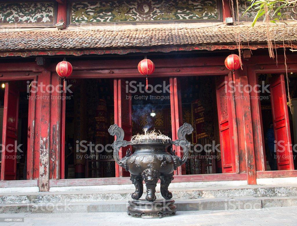 Temple of Jade Mountain in Hanoi, Vietnam stock photo