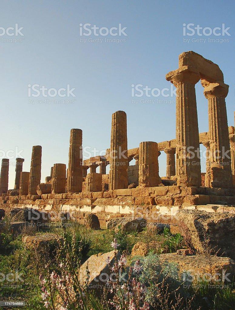 Temple of Juno - Agrigento, Sicily royalty-free stock photo