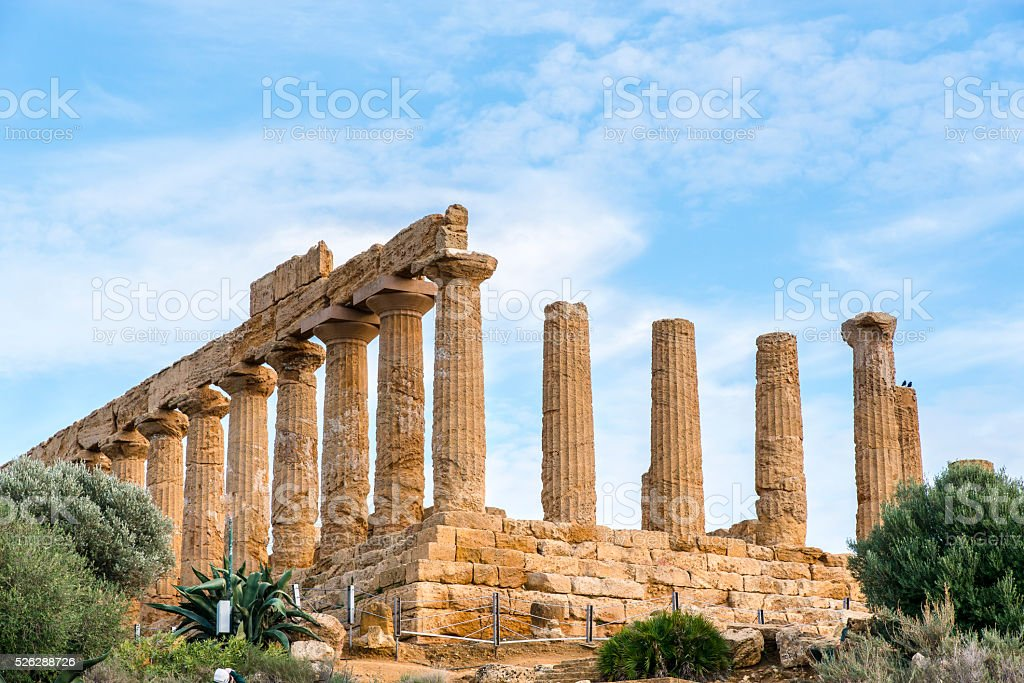 Temple of Juno Lacinia. Valley of the Temples. stock photo