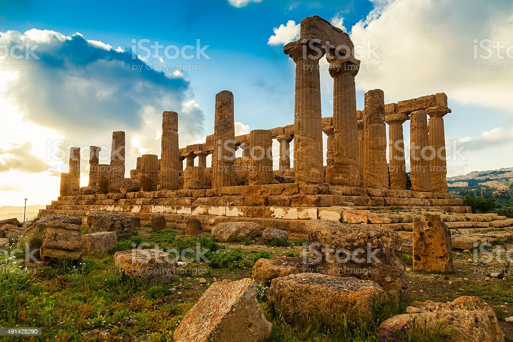 Temple of Juno stock photo