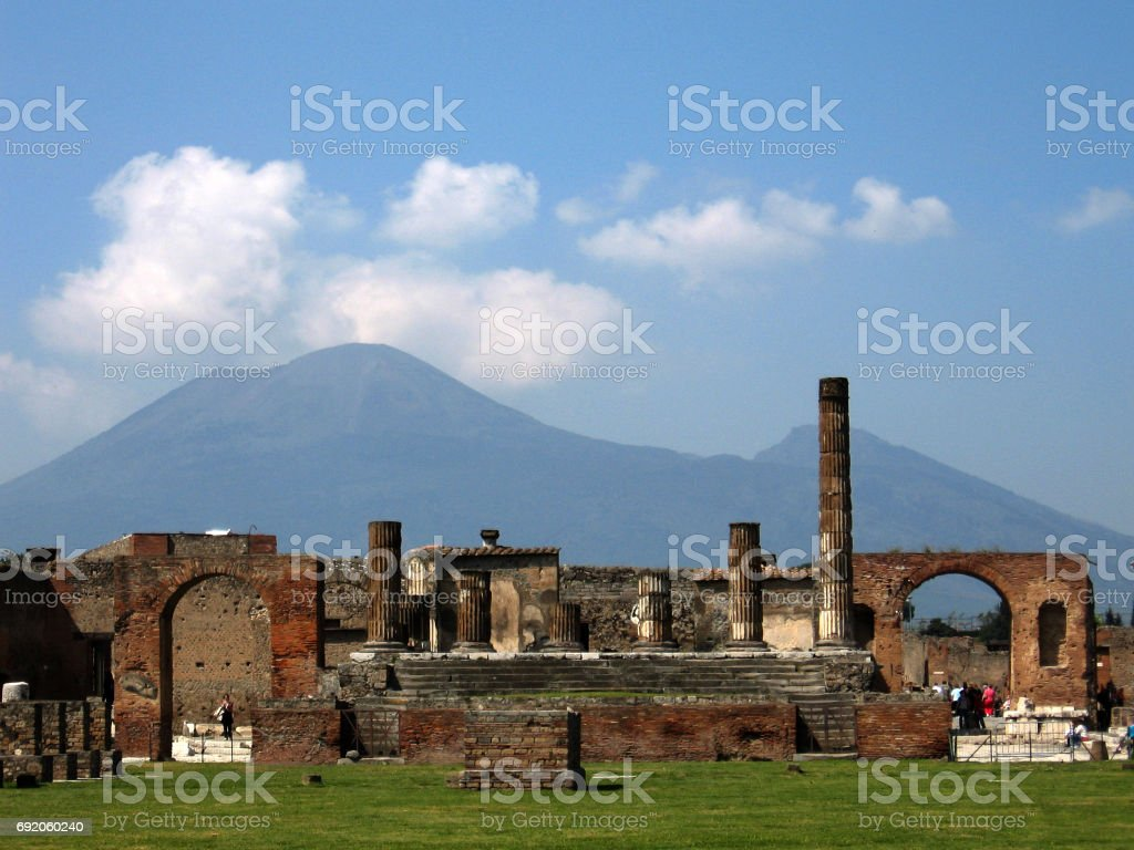 Temple of Jupiter at Pompeii stock photo