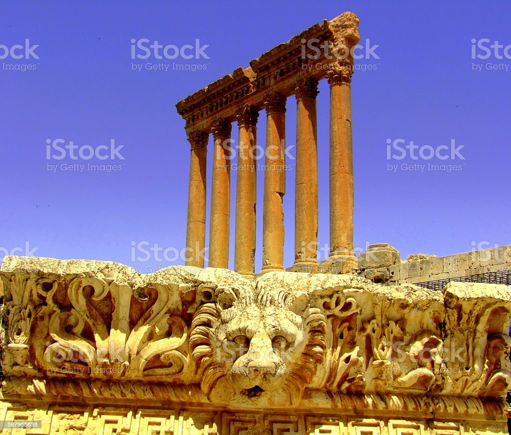Temple of Jupiter, Baalbek, Lebanon stock photo