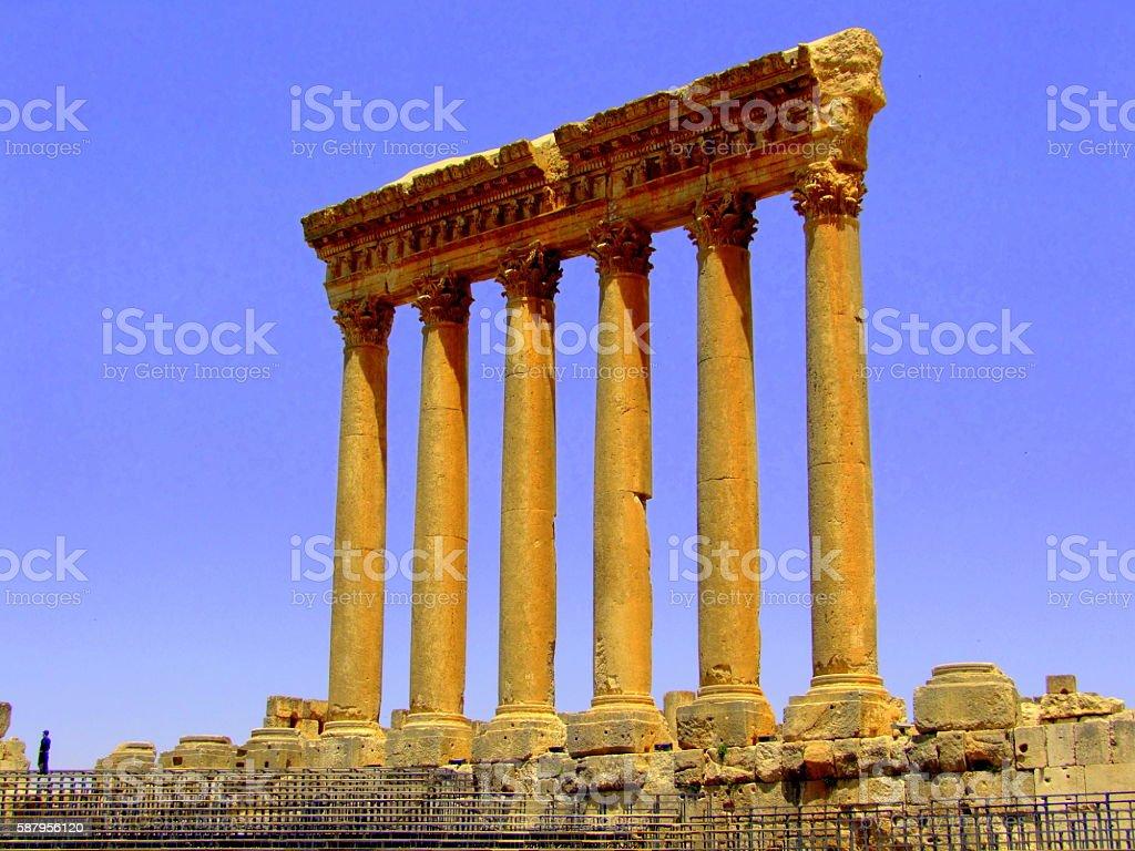 Temple of Jupiter, Baalbek, Lebanon stock photo