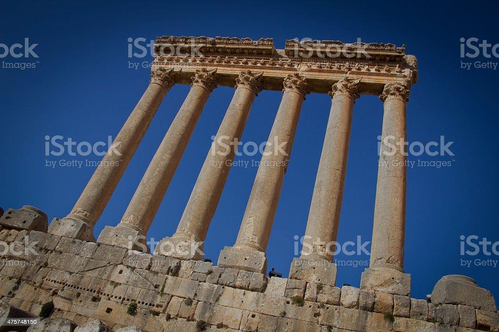 Temple of Jupiter stock photo