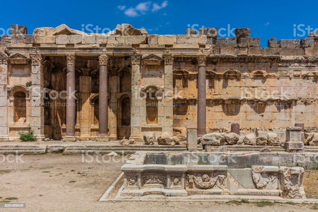 Temple of Jupiter romans ruins Baalbek Beeka Lebanon stock photo