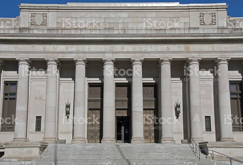 Temple of Justice stock photo