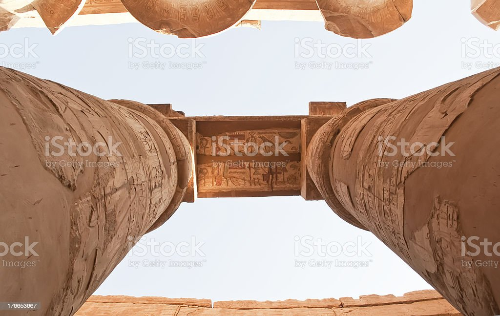 Temple of Karnak, Egypt royalty-free stock photo